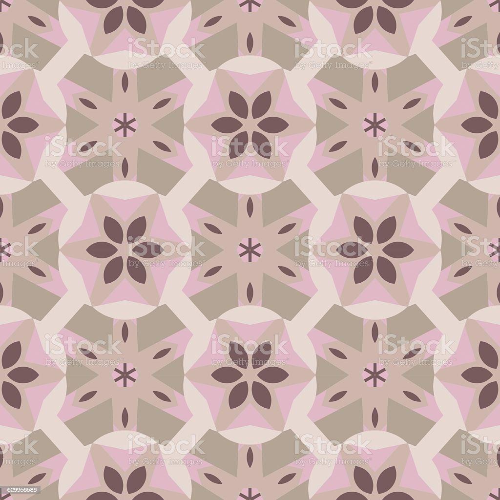 vintage mosaic tiles. vector art illustration