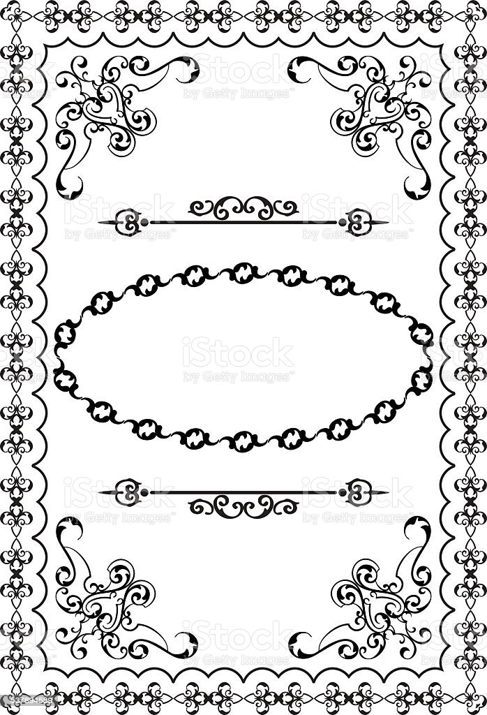 Vintage nice page decoration vector art illustration