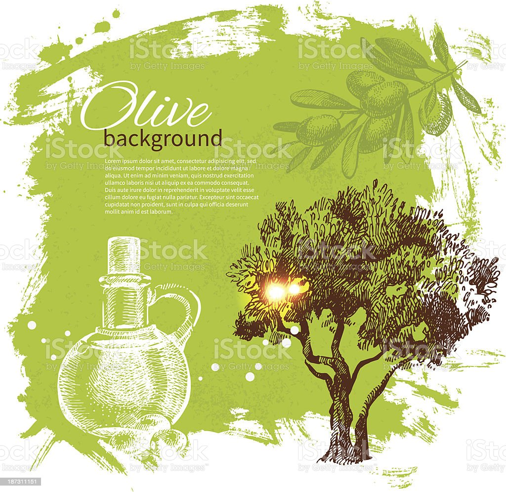 Vintage olive background royalty-free stock vector art