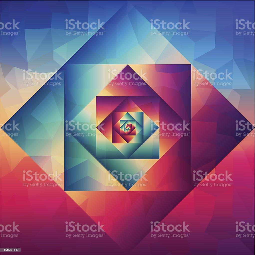 Vintage optic art geometric pattern vector art illustration
