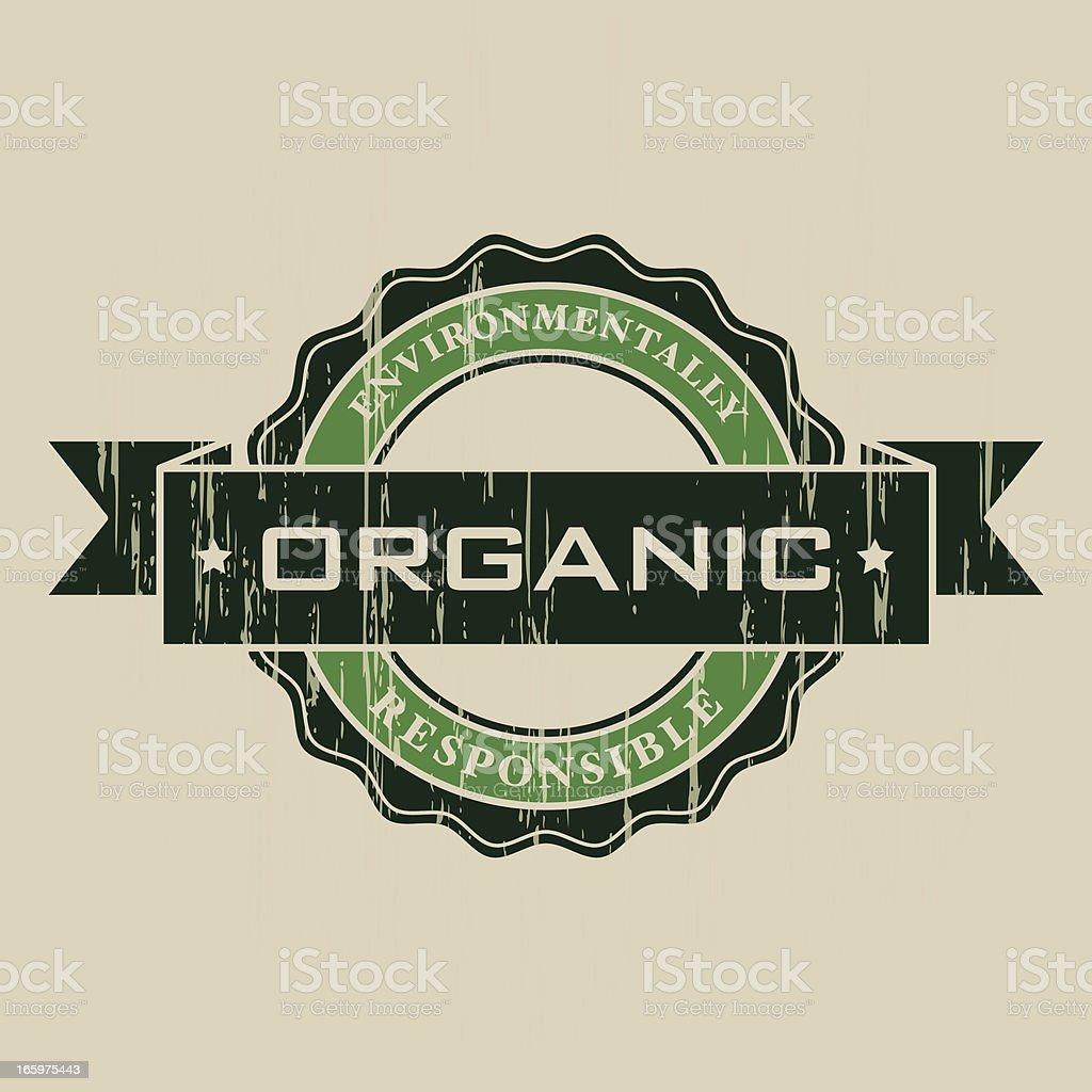 Vintage Organic Label royalty-free stock vector art