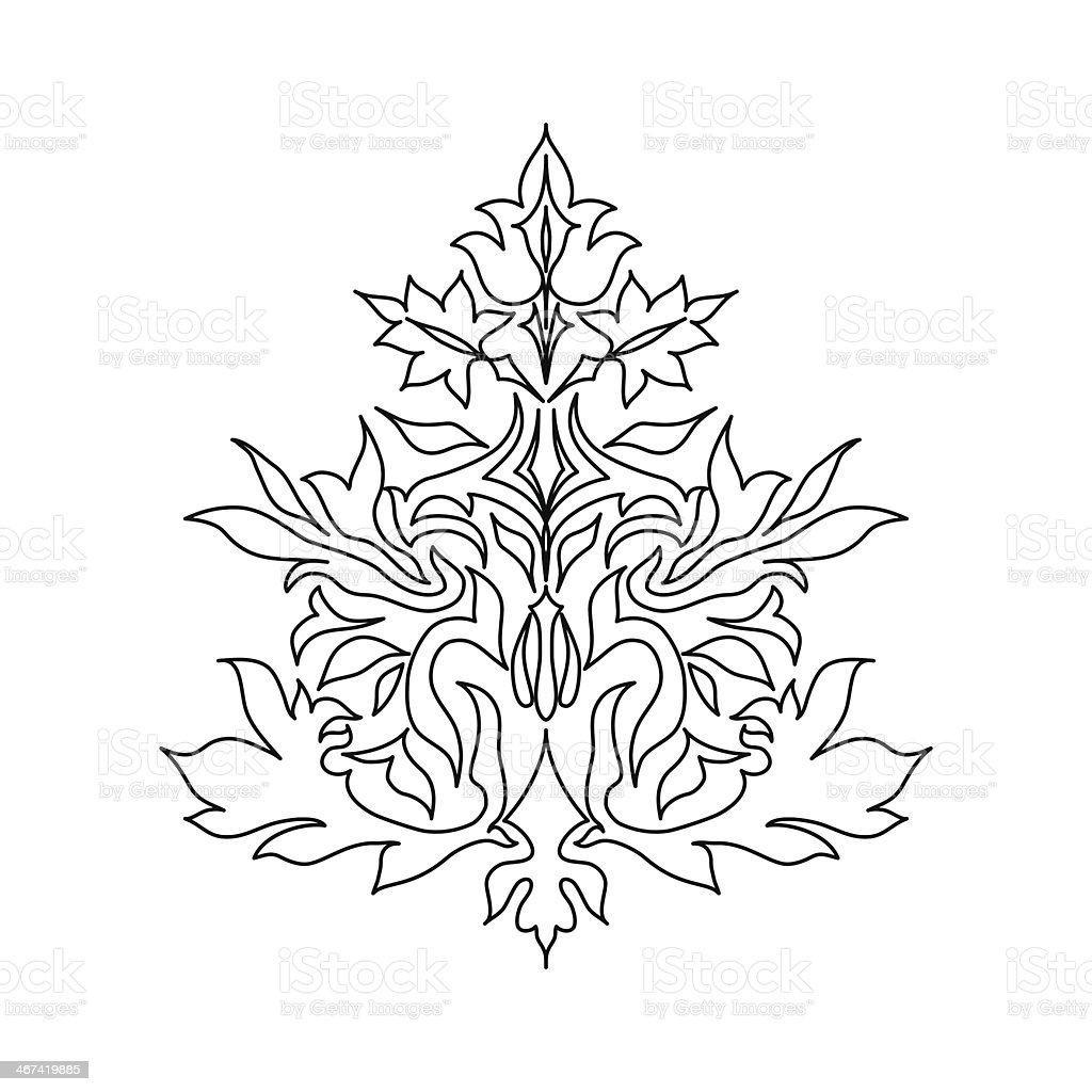 Vintage Ornament on background vector  q royalty-free stock vector art