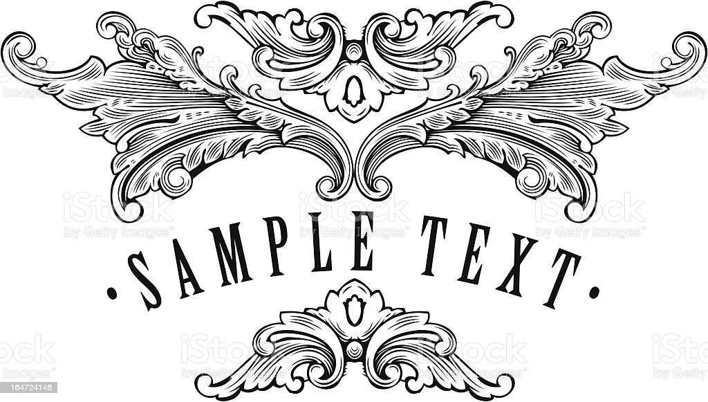vintage ornamental frame template for your title royalty-free stock vector art