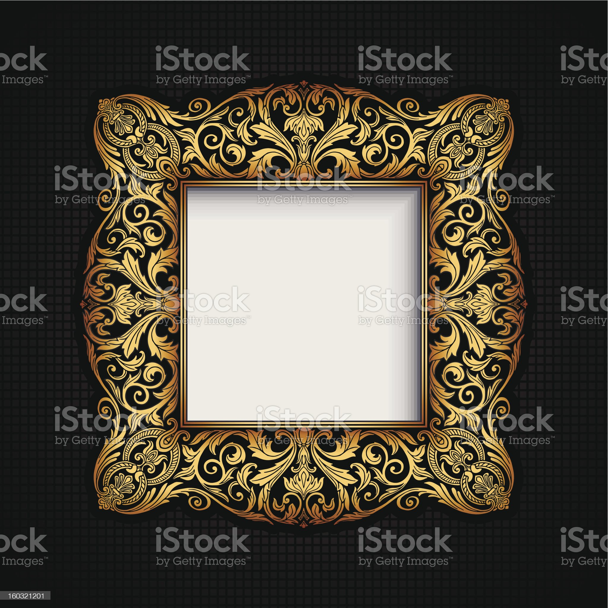 Vintage ornamental frame royalty-free stock photo
