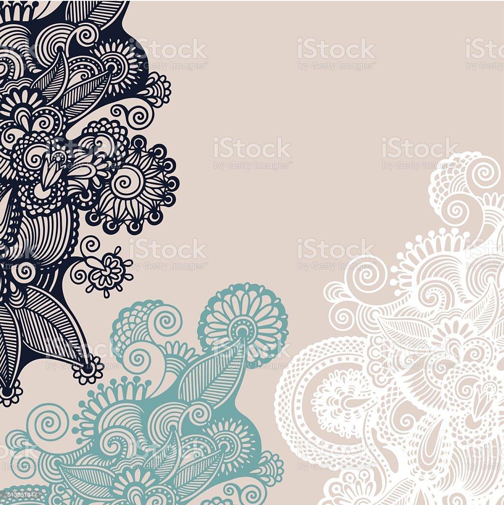 vintage ornamental template vector art illustration