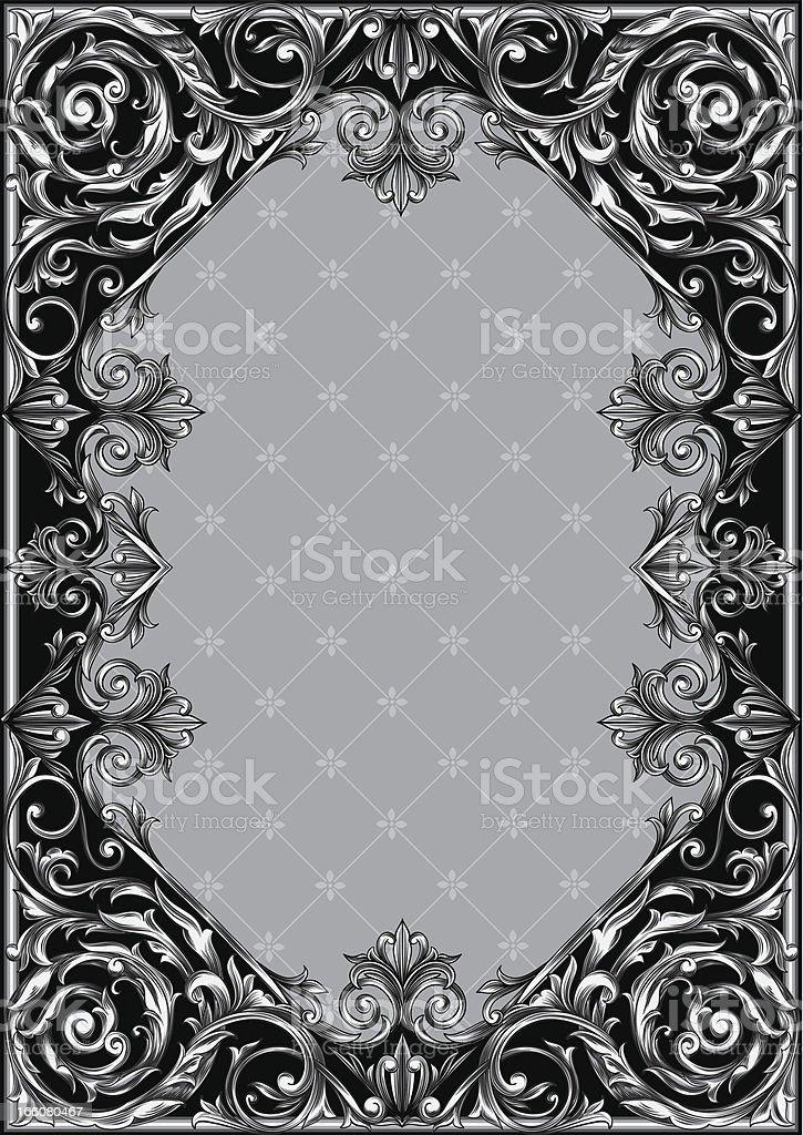 Vintage ornate blank royalty-free stock vector art