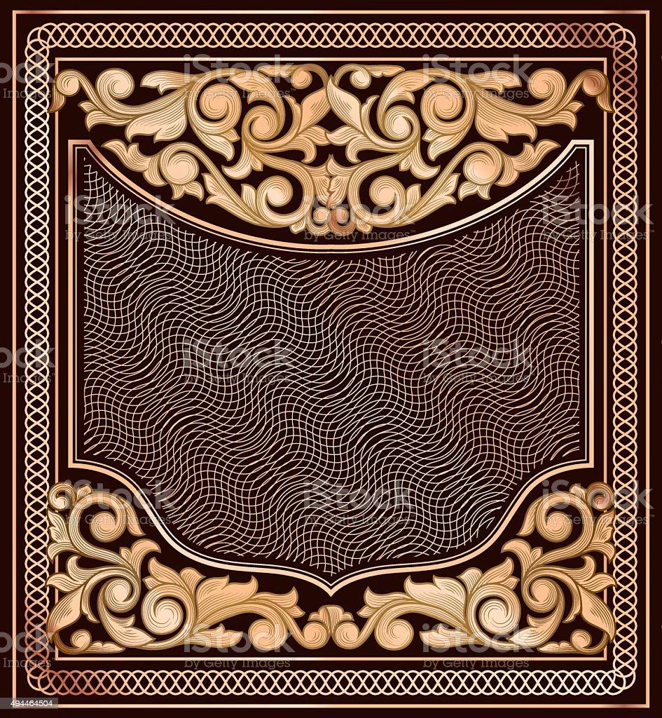 Vintage ornate decorative frame vector art illustration