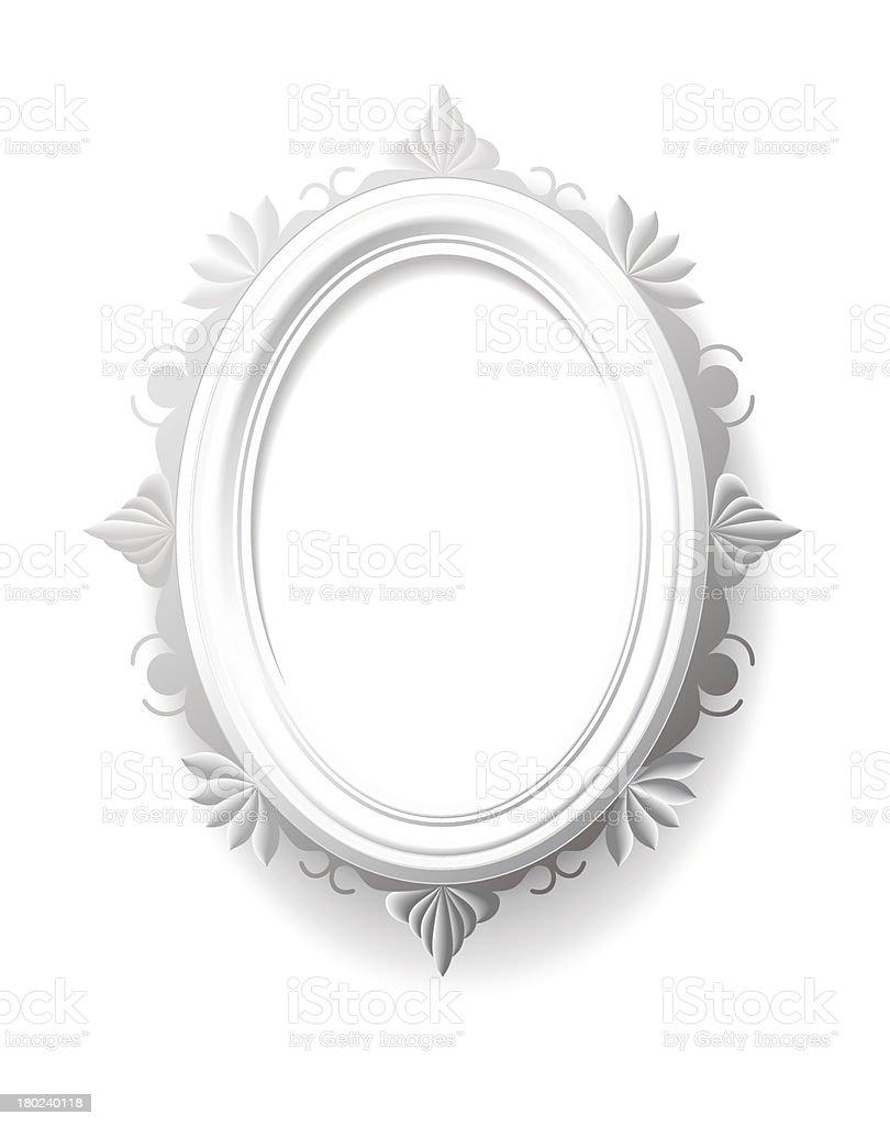 Vintage oval frame. royalty-free stock vector art
