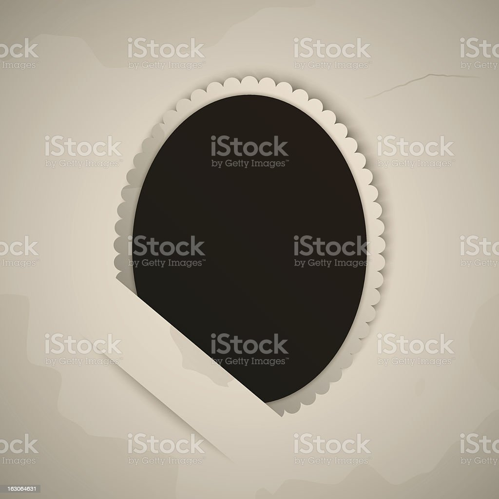 vintage oval photo royalty-free stock vector art