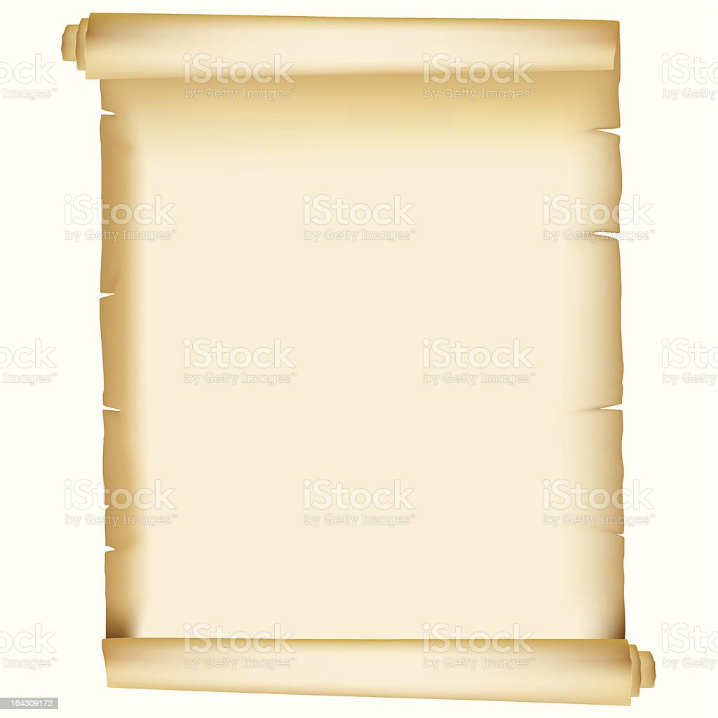 Vintage paper scroll manuscript royalty-free stock vector art