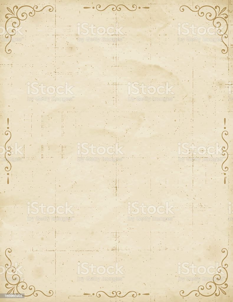 Vintage Paper with Frame royalty-free stock vector art