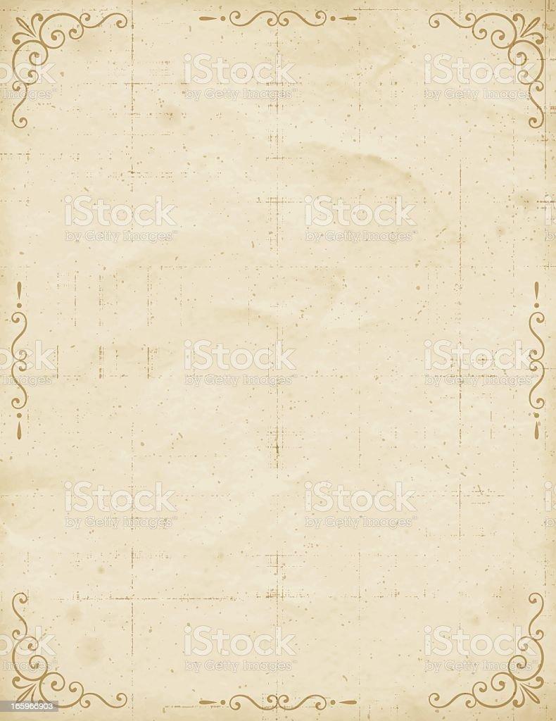 Vintage Paper with Frame vector art illustration
