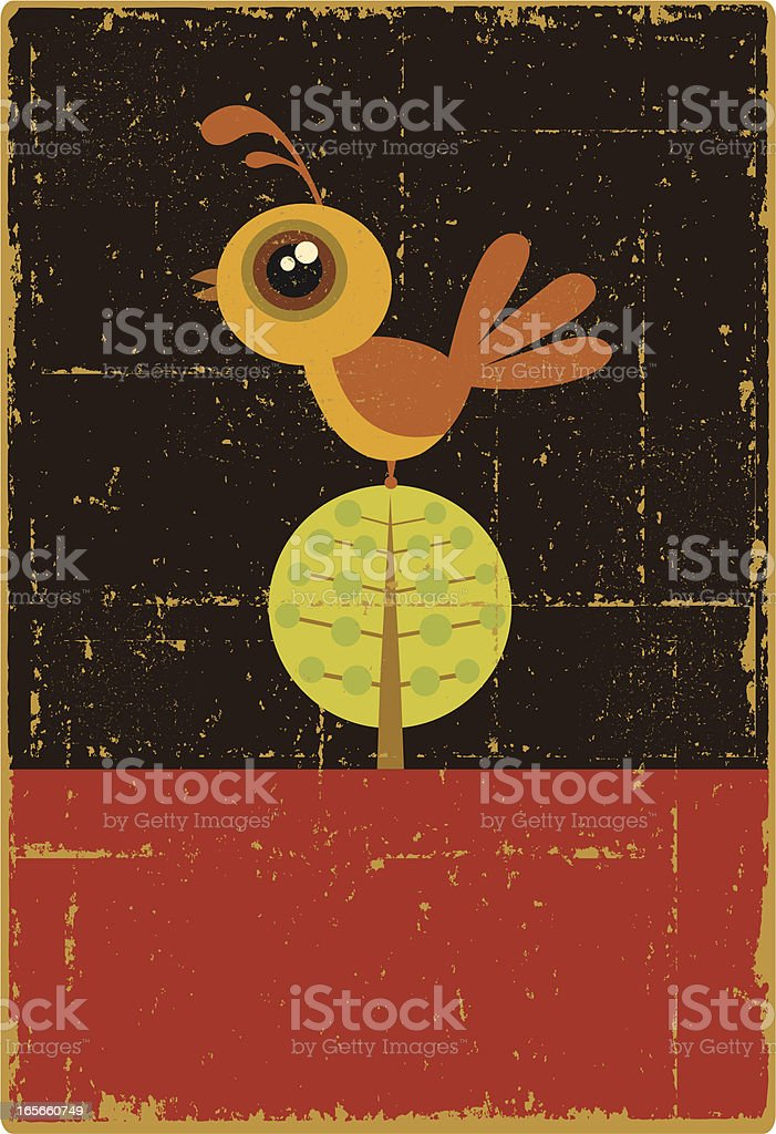 Vintage Partridge in a Pear Tree royalty-free stock vector art