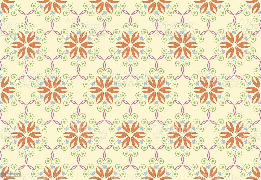 Vintage pattern background with floral ornament. seamless royalty-free stock vector art