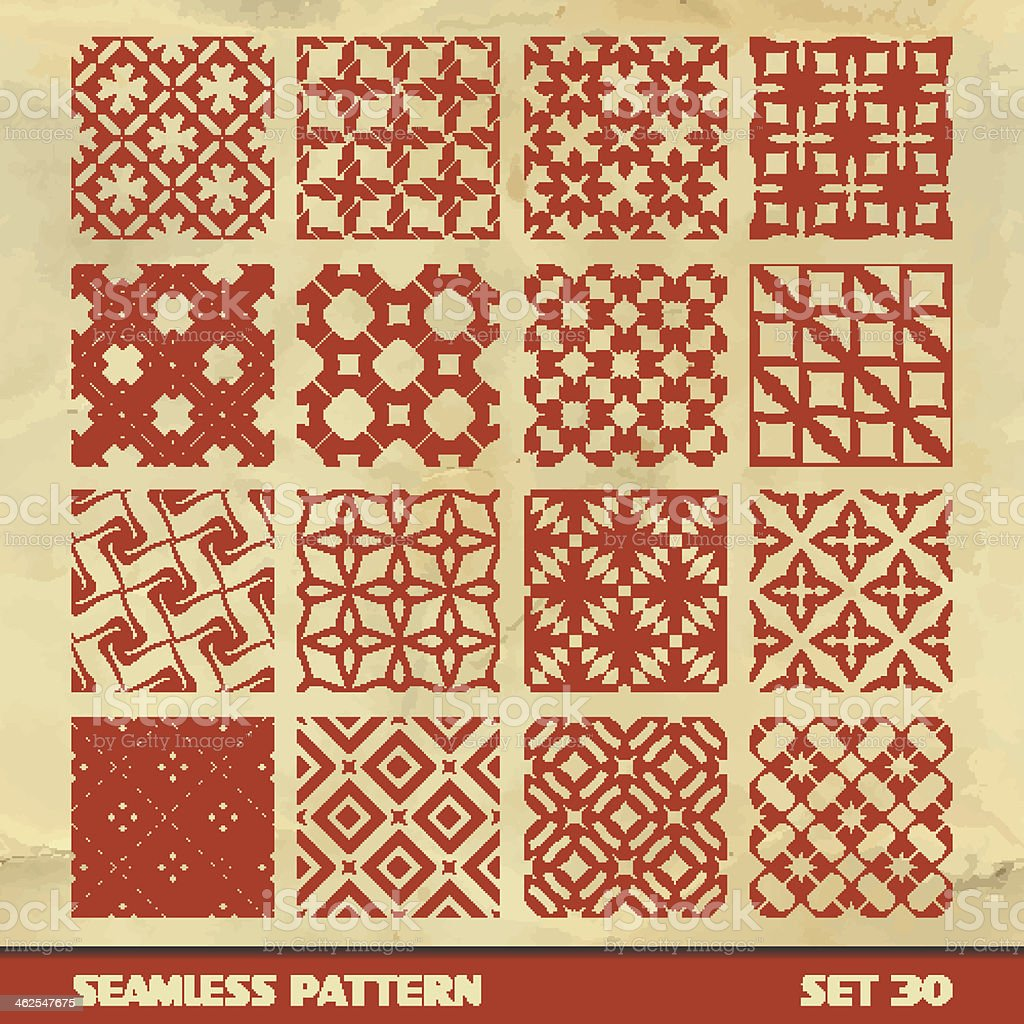 SEAMLESS vintage pattern. vector art illustration