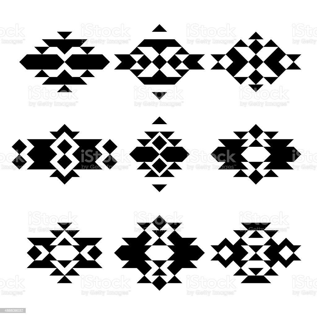 vintage pattern vector art illustration