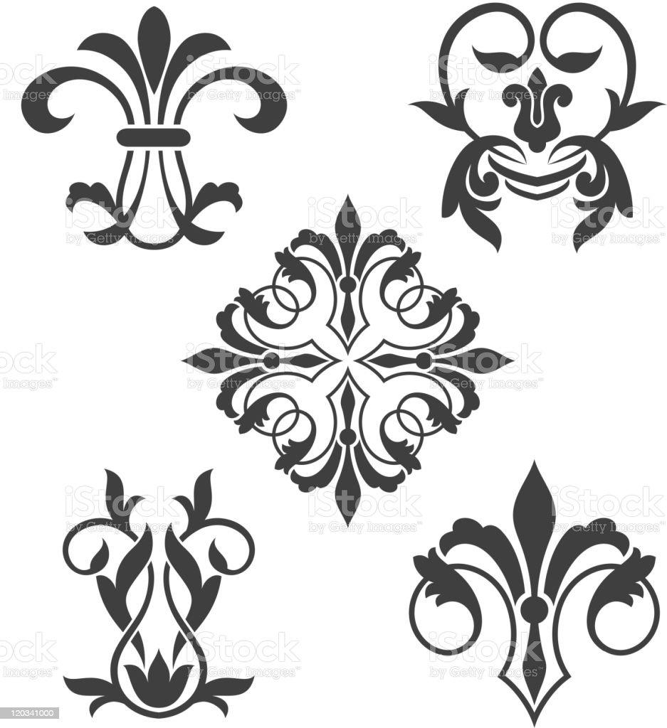 Vintage patterns royalty-free stock vector art