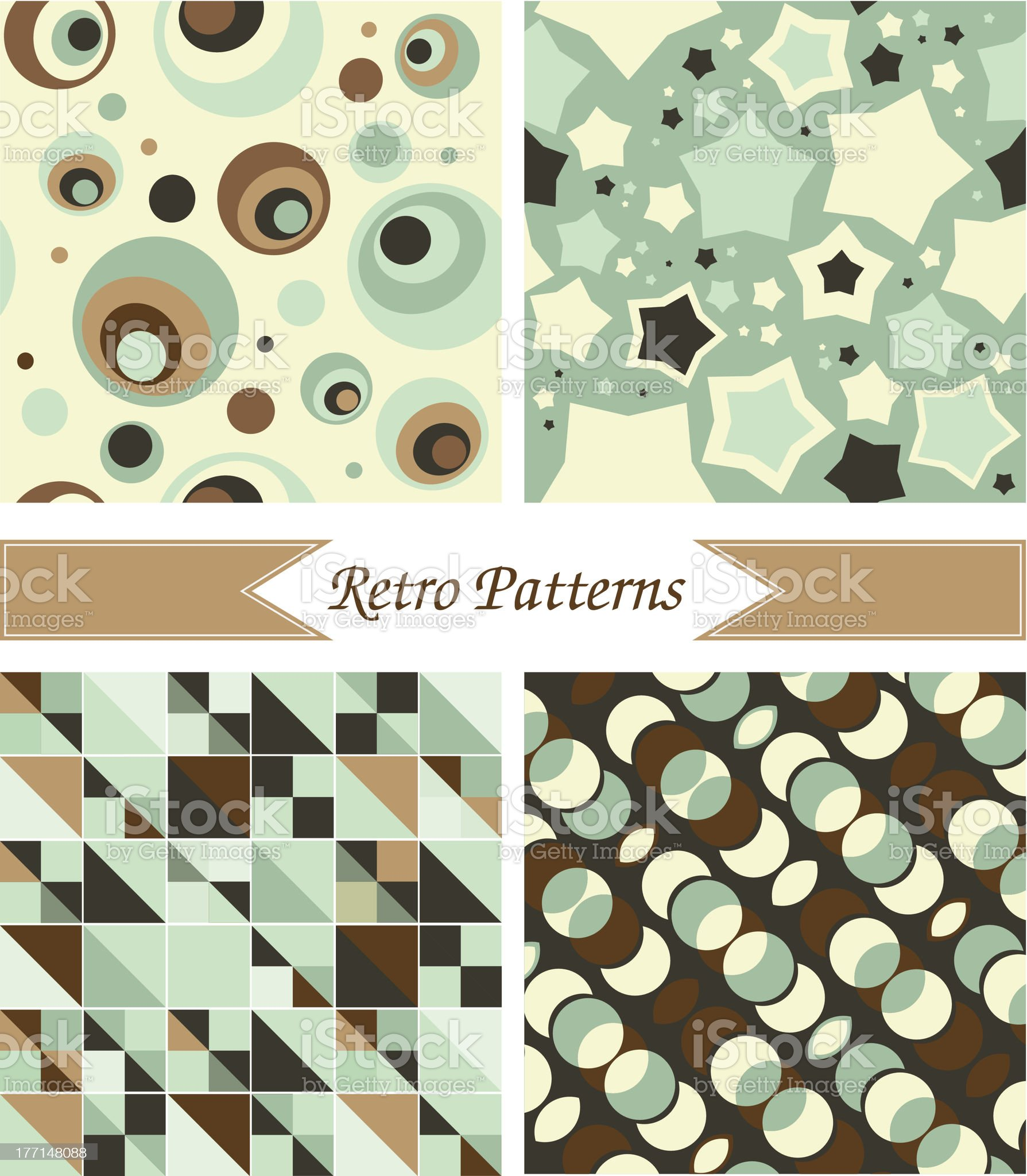 Vintage patterns royalty-free stock vector art