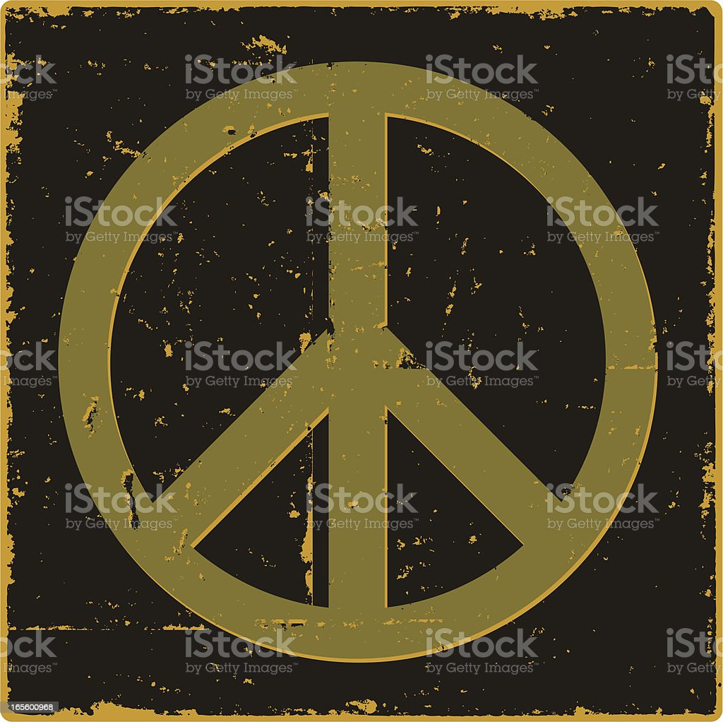 Vintage Peace Symbol royalty-free stock vector art