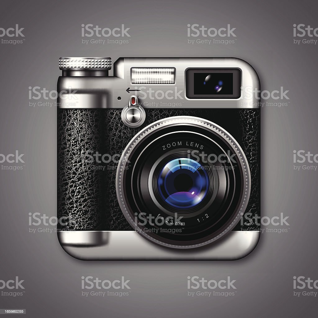 Vintage Photo Camera Icon royalty-free stock vector art
