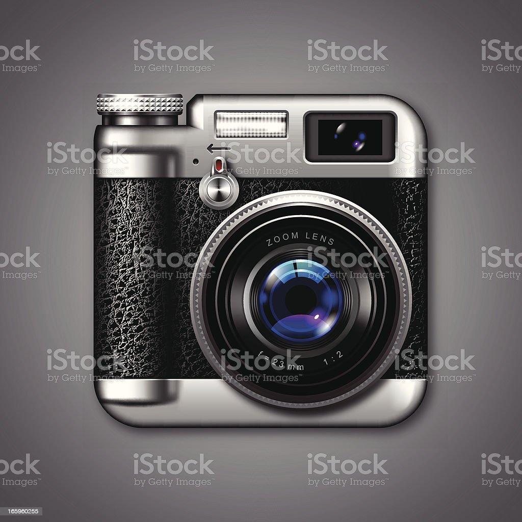Vintage Photo Camera Icon vector art illustration