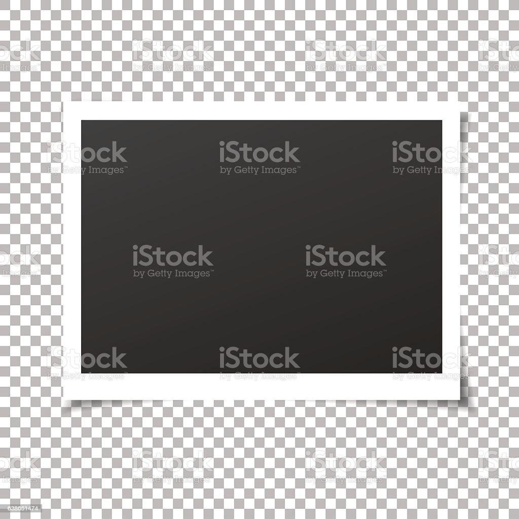 Vintage photo frame. Vector. vector art illustration
