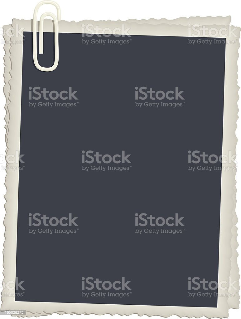 Vintage Photo Frames with Paperclips royalty-free stock vector art