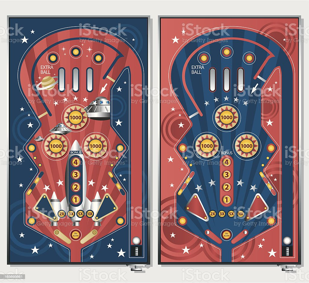 Vintage Pinball Machine royalty-free stock vector art