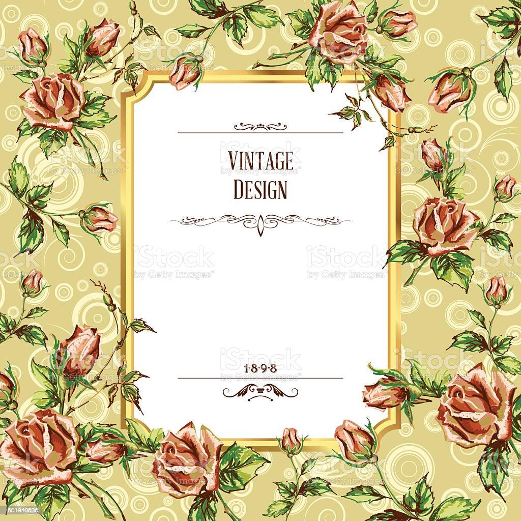 vintage postcard vector art illustration