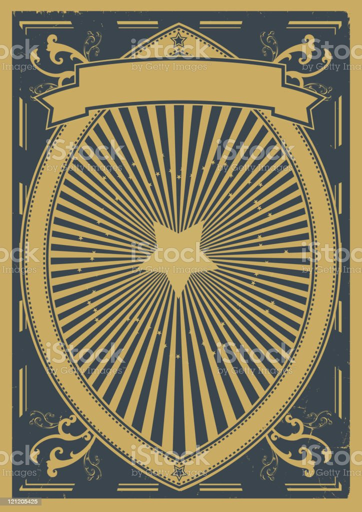 Vintage Poster Background royalty-free stock vector art