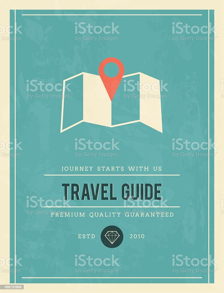 vintage poster for travel guide vector art illustration