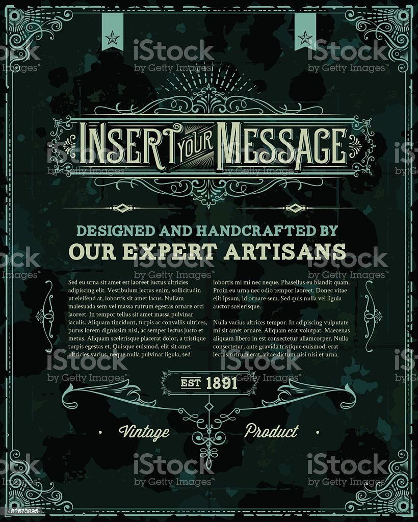 Vintage Poster Template royalty-free stock vector art