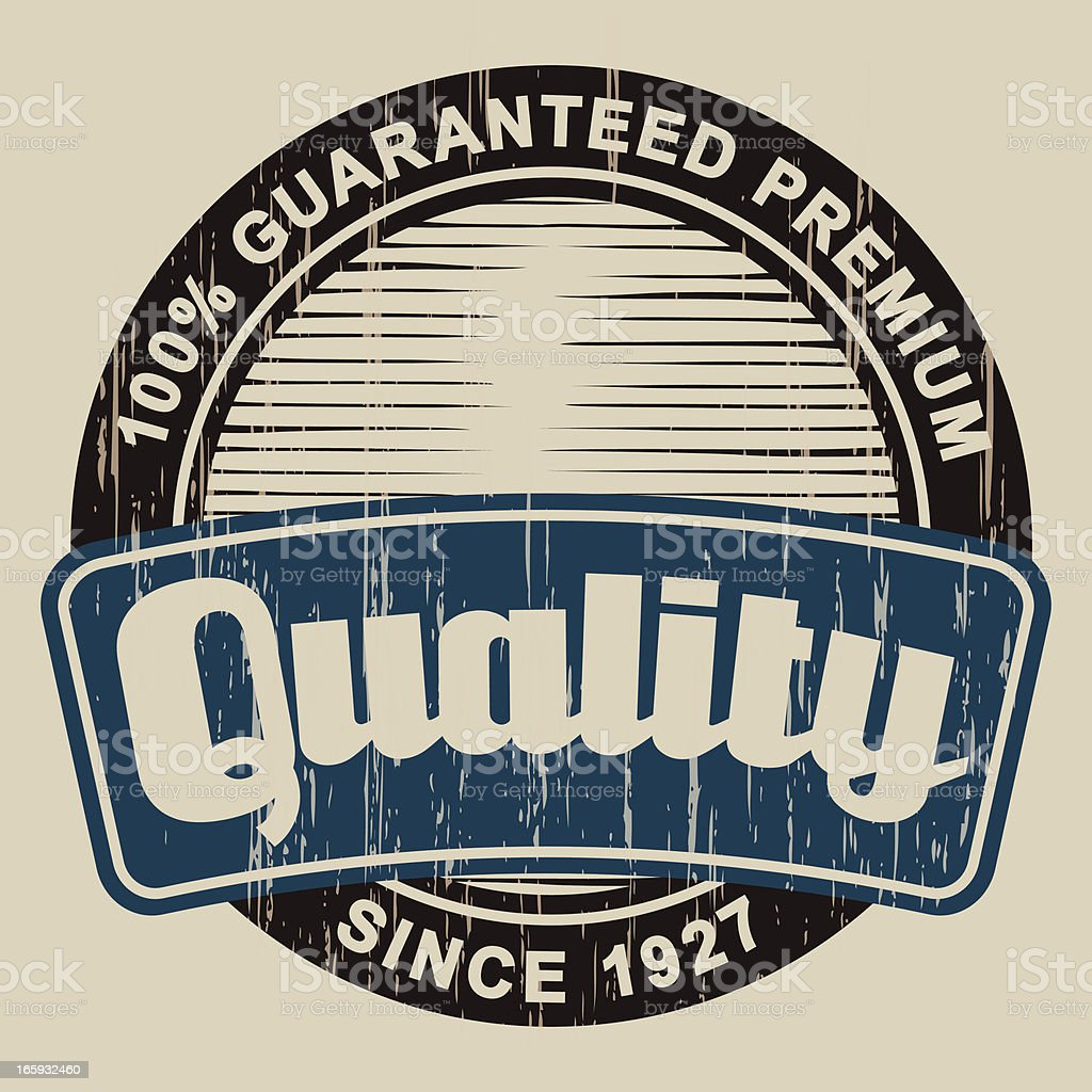 Vintage Quality Label royalty-free stock vector art