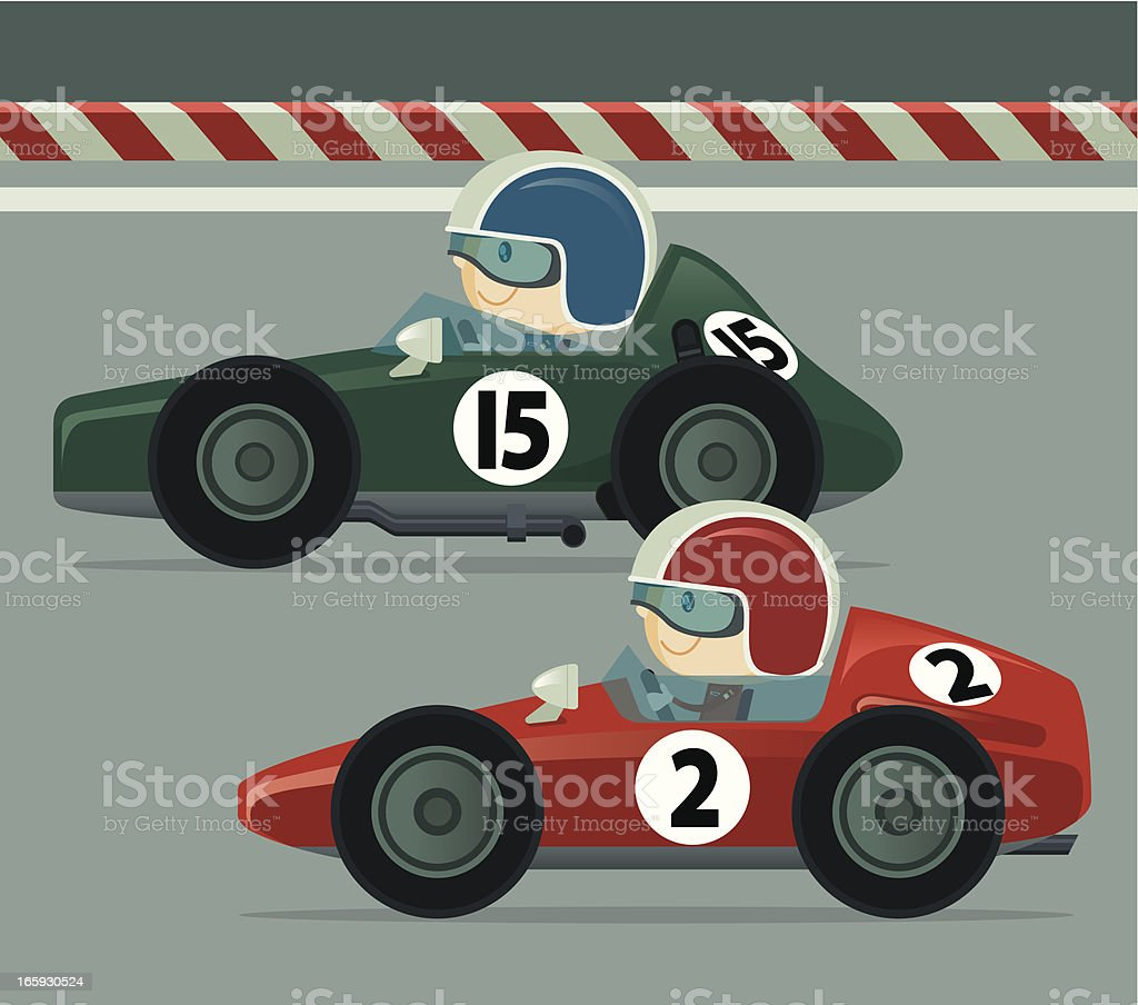 Vintage Race Car vector art illustration