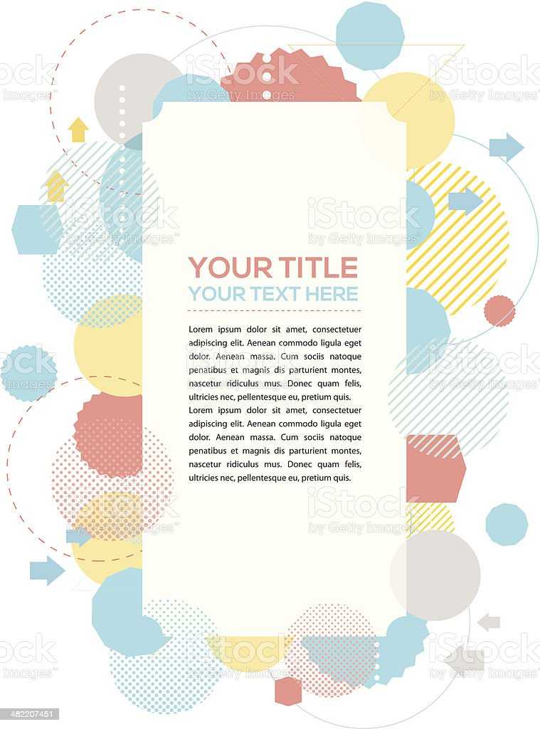 Vintage rectangle copy space royalty-free stock vector art