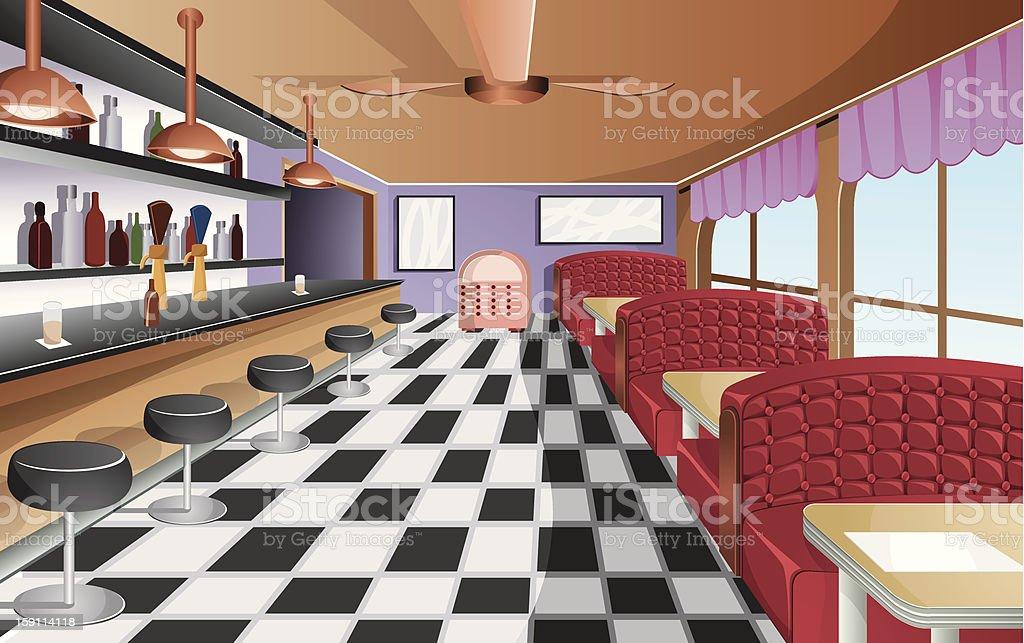 Vintage restaurant. vector art illustration