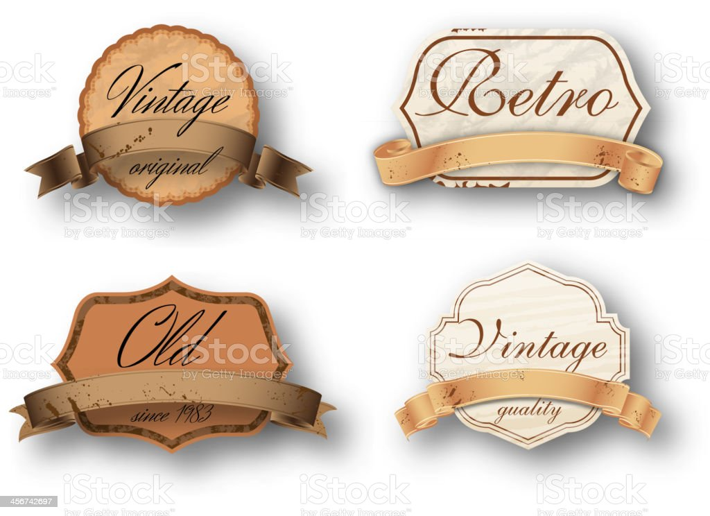 Vintage retro banners royalty-free stock vector art