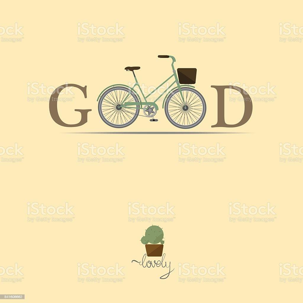 Vintage Retro Bicycle Background vector art illustration