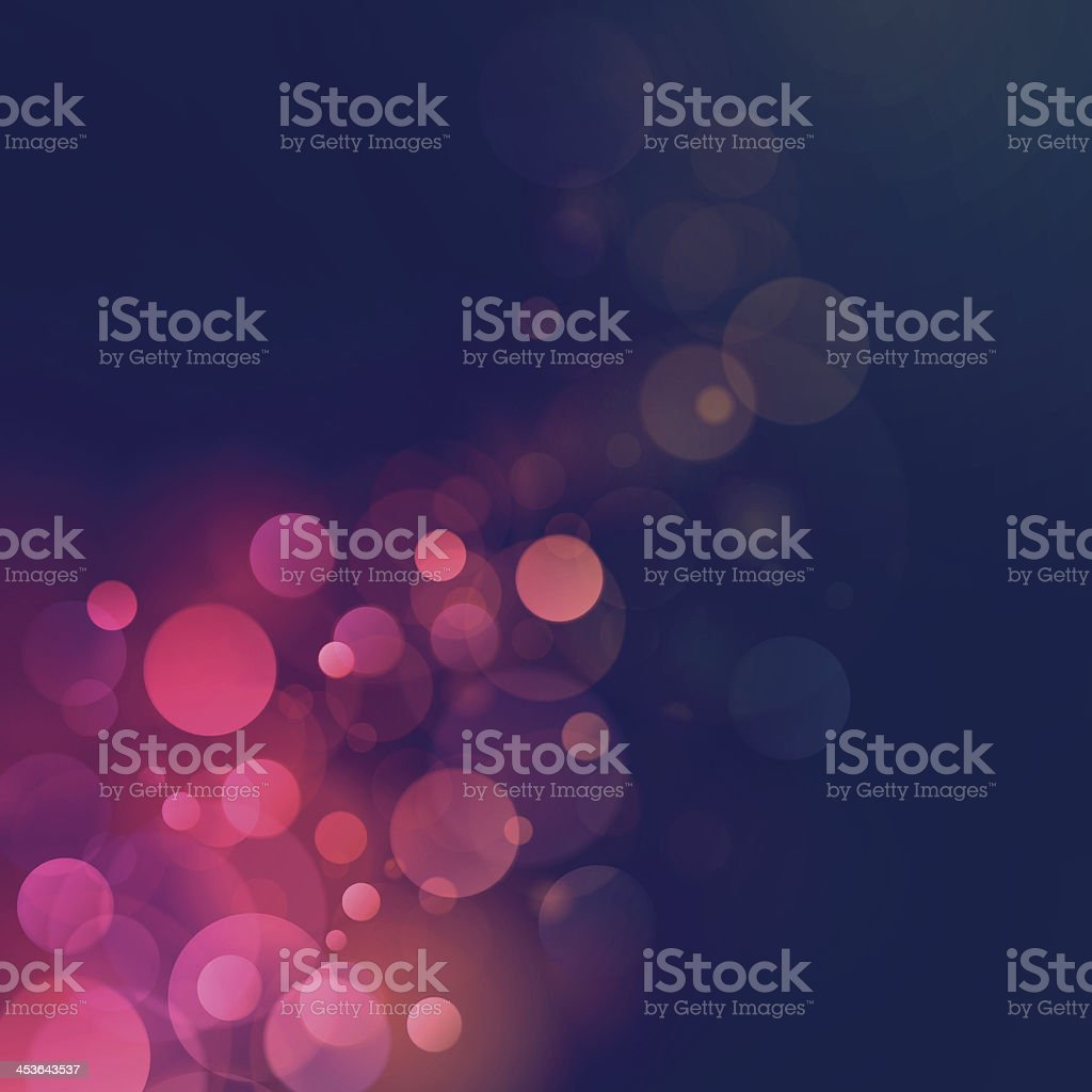 Vintage Retro Bokeh Blurry Lights Vector Background vector art illustration