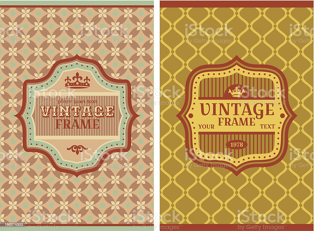 vintage retro cards royalty-free stock vector art