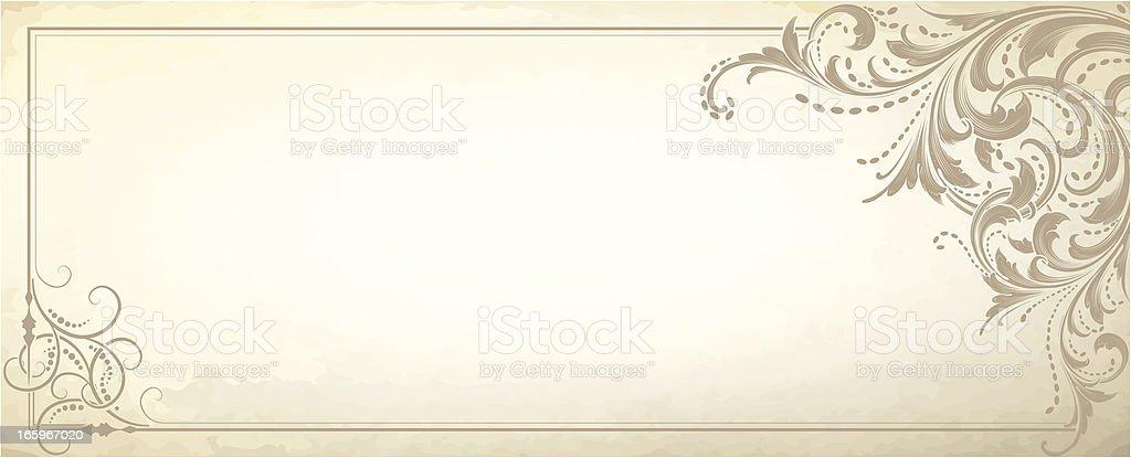 Vintage Retro Scrollwork Banner vector art illustration