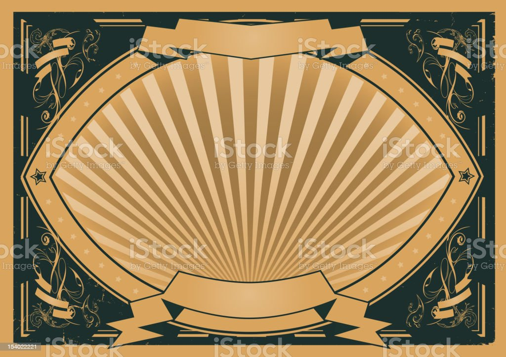 Vintage Ribbons And Banners Poster royalty-free stock vector art