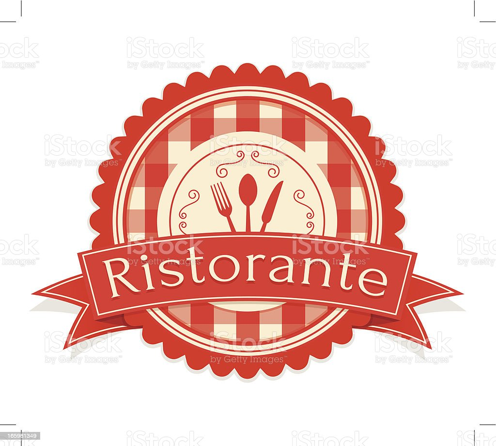 Vintage Ristorante Label royalty-free stock vector art