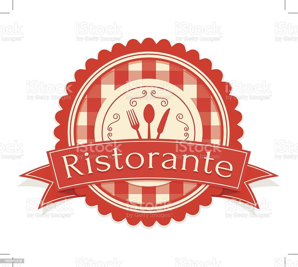 Vintage Ristorante Label vector art illustration