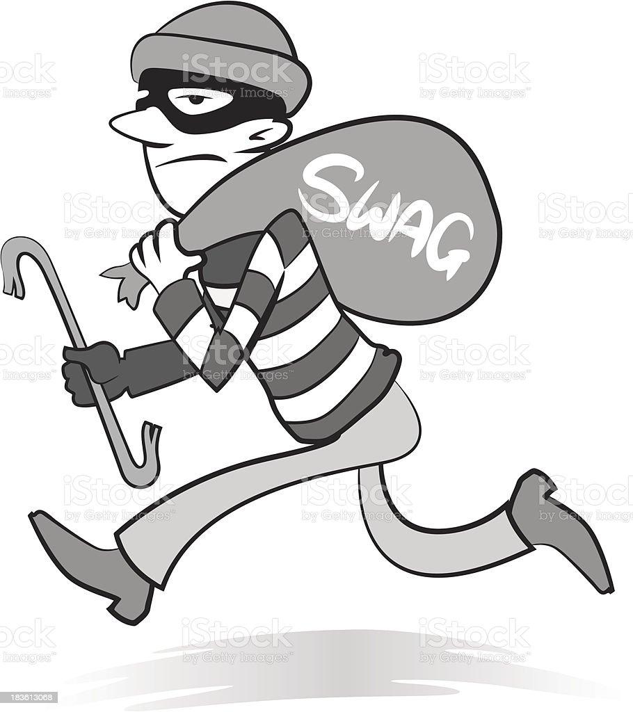 Vintage Robber vector art illustration