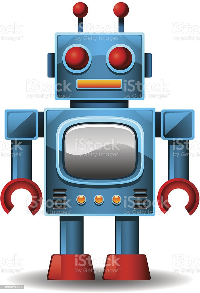 Vintage Robot royalty-free stock vector art