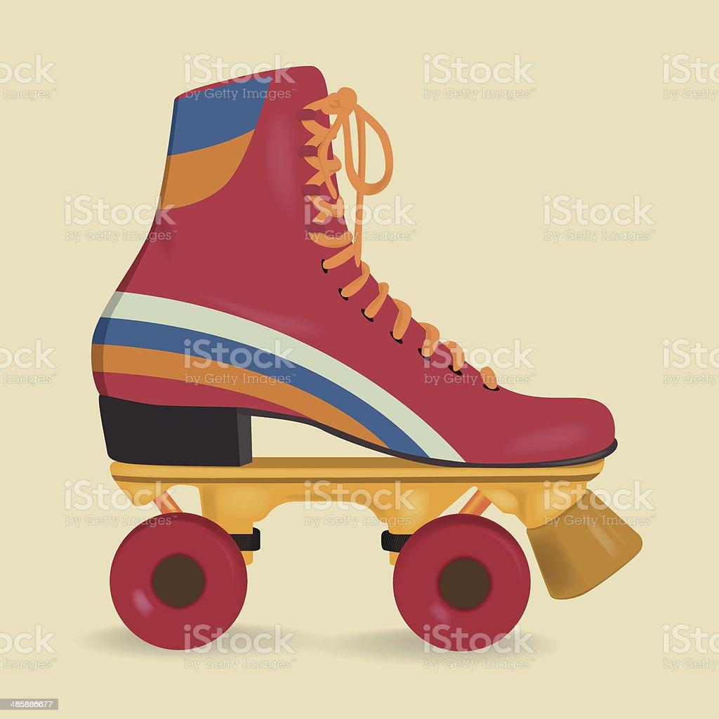 Roller skates vintage - Vintage Roller Skates Royalty Free Stock Vector Art
