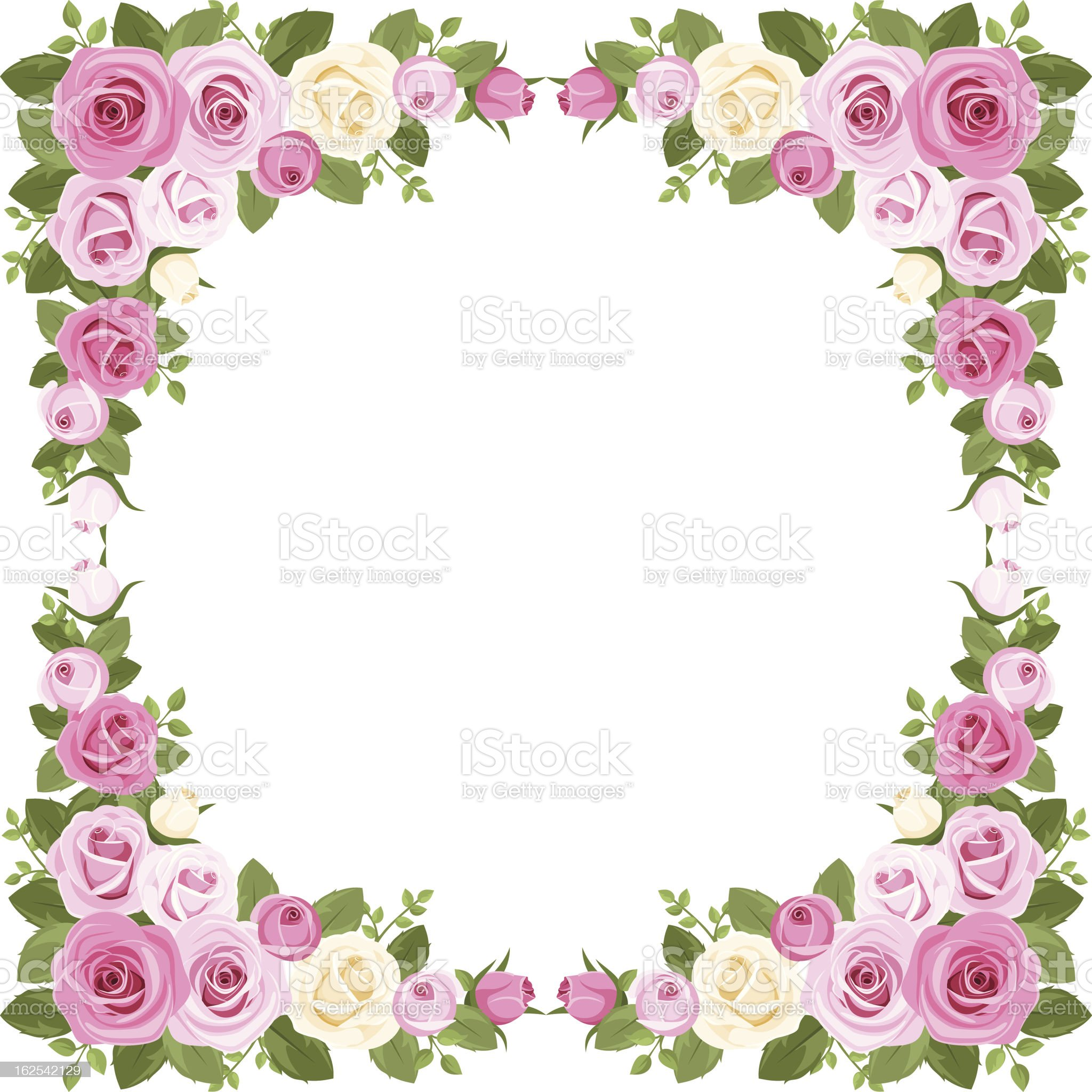 Vintage roses frame. Vector illustration. royalty-free stock vector art