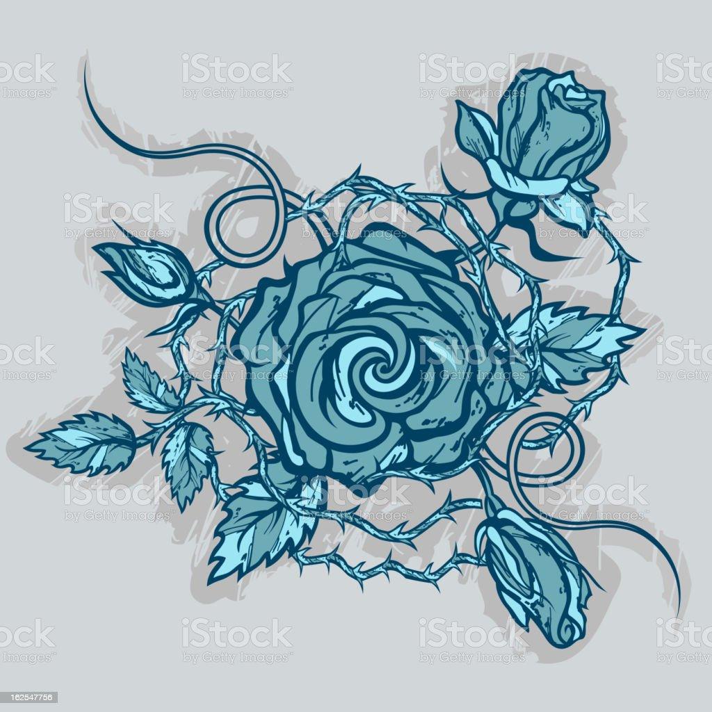 Vintage roses tattoo vector art illustration