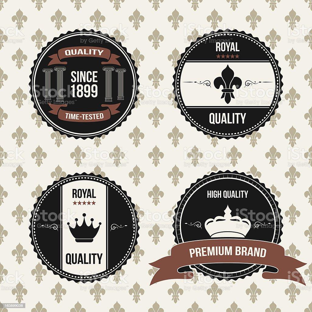 vintage royal labels royalty-free stock vector art